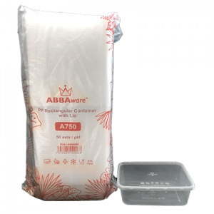 ABBAWARE CONTAINER W/LID A750  50'S