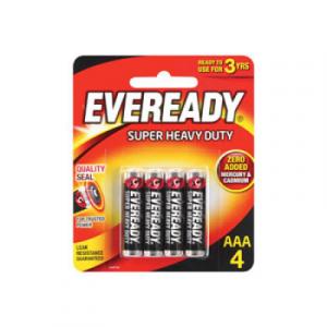 EVEREADY SUPER HEAVY DUTY AAA 4PCS 1X4'S